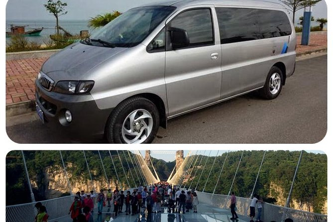 Entrance Tickets to Grand Canyon & Glass Bridge with Private Car Transfer From Wulingyuan Area Hotel (Round Trip )
