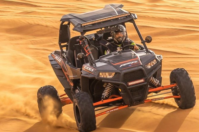 Private Morning Dune Buggy Dubai With Camel ride & sandboarding