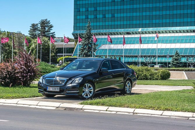 Belgrade Private Arrival Airport Transfer with City Tour with Mercedes lux cars
