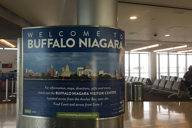 Shared Airport Transfer: Buffalo Niagara International Airport to Niagara Falls NY