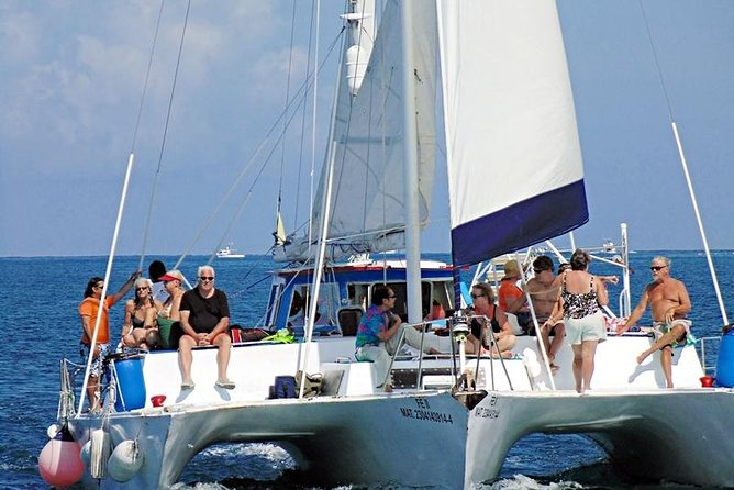 """FE"" Catamaran Sail and Snorkel Tour in Cozumel"
