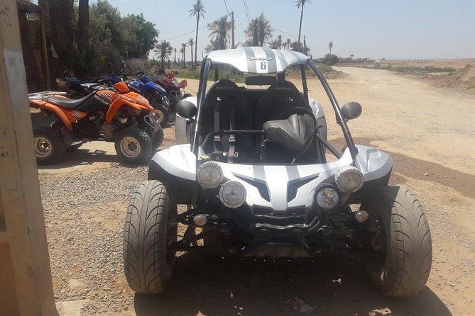 Medio día de viaje en buggy en Marrakech Surco de palmeras y pueblos