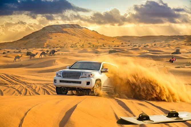 Dubai Red Dune Desert Safari: Camel Ride, Sandboarding & BBQ Options