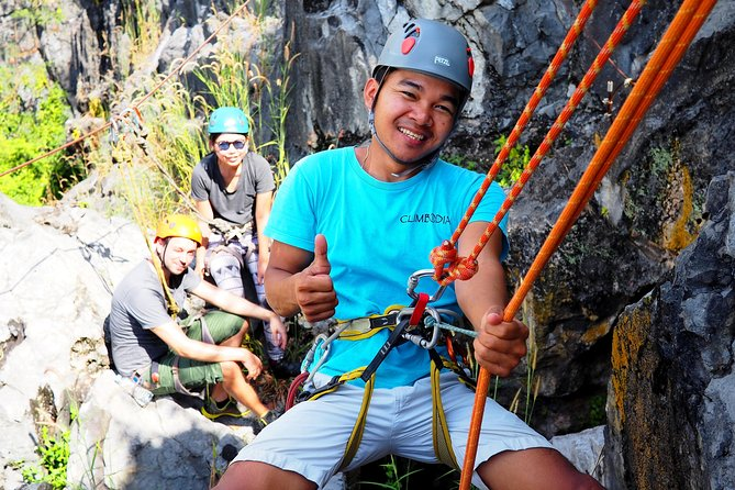 Discovery Tour: Caving, Climbing, Via Ferrata and Abseiling in Kampot