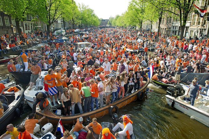 Amsterdam King's Day 90m Canal Party Cruise