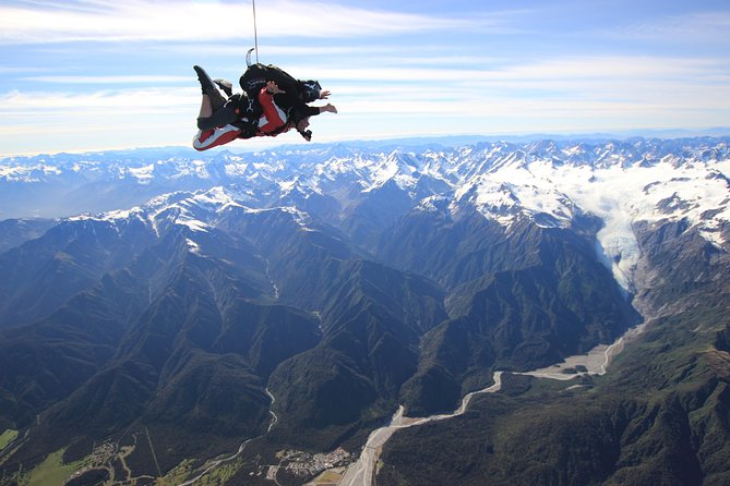 Tandem Skydive 13,000ft from Franz Josef
