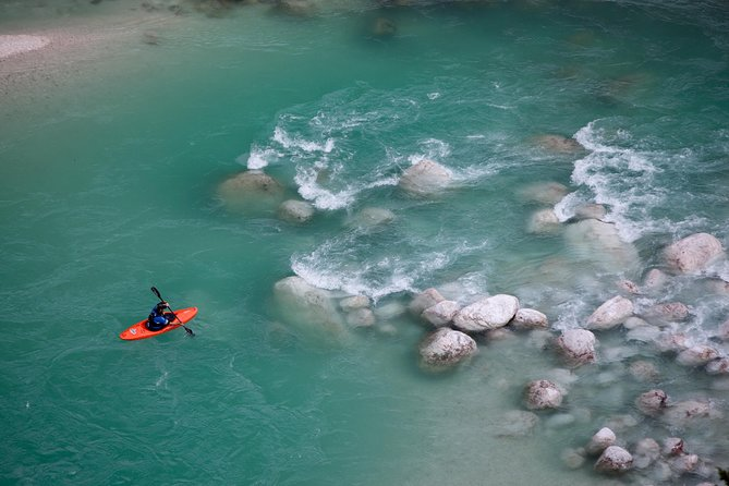 Guided Kayak Descent on Soca River from Bovec
