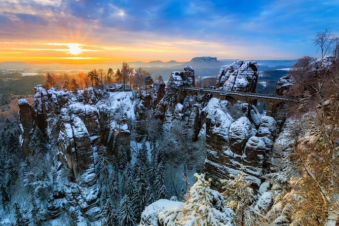 Best of Bohemian and Saxon Switzerland Day Trip from Prague- Winter Tour