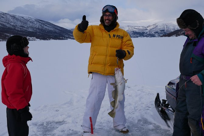 Ice Fishing On The Fjord