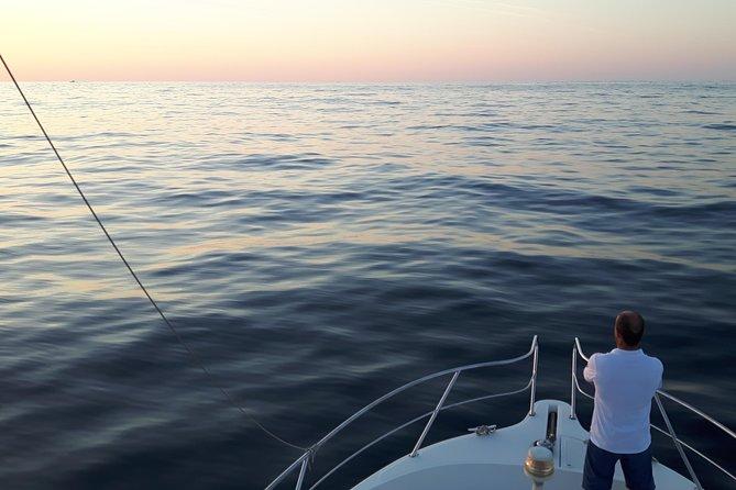 Sunset in a yacht in San Sebastian