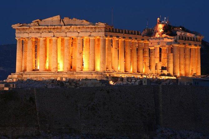 Excursão turística noturna por Atenas com jantar grego e show