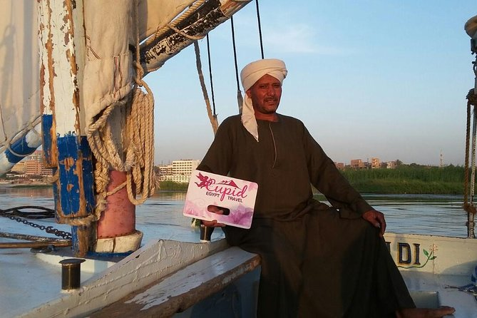 4 days sailing felucca to luxor.aswan.abu simbel.air balloon by train from Cairo