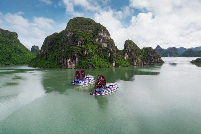 Halong Full Day on charming cruise kayaking Luon cave depart Hanoi Old Quarter