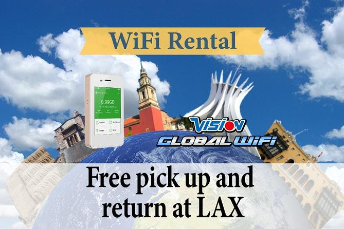 4G LTE Pocket WiFi Rental, Internet Connection in Brazil   - pick up at LAX
