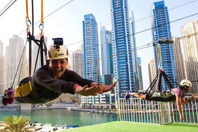 Zipline Experience in Dubai Marina with Private transfers