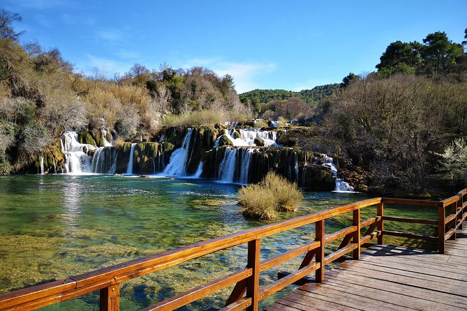 Private trip to NP Krka & Wine testing & Primosten from Split