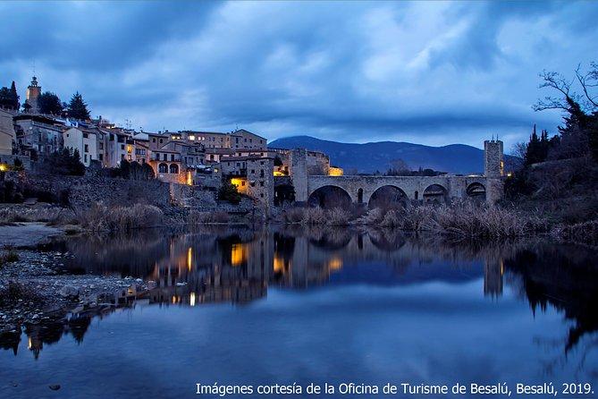 Besalú from Roses: fort between two rivers
