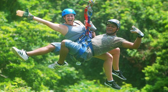 Mega Excursion Zipline, Sloths & Monkeys, Chocolate Factory, Beach & Shuttle