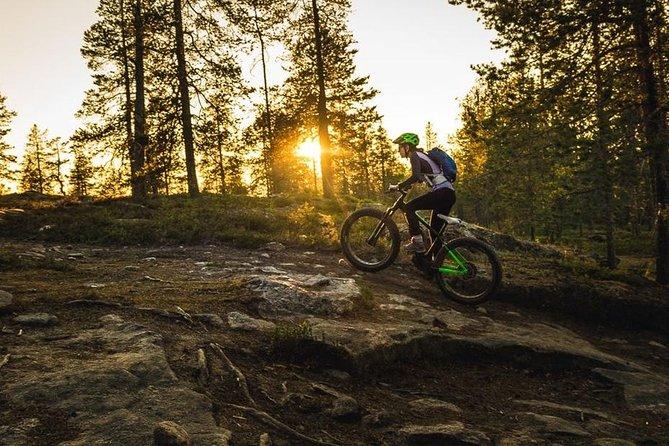 Cool Rovaniemi summer night mountain bike ride