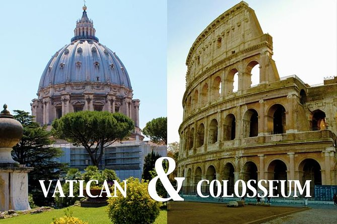 Rome All-in-One: Vatican Museums and Colosseum Private Tour-Transfers included