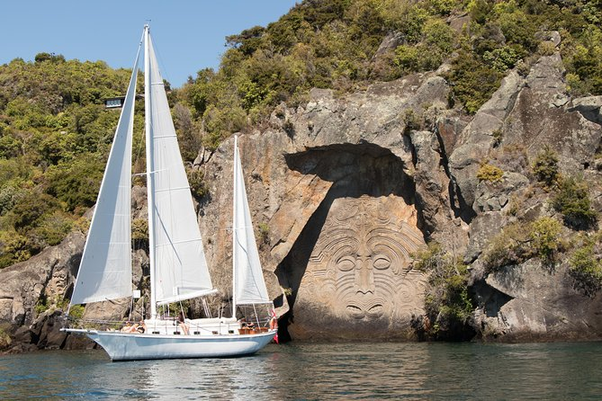 Maori Rock Carvings Eco Sailing Taupo