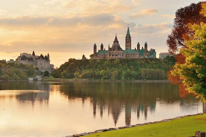 Parliament view from across Ottawa River