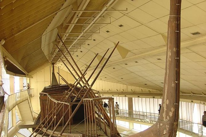 Giza Pyramids and Solar Boat Museum Half Day Private Tour
