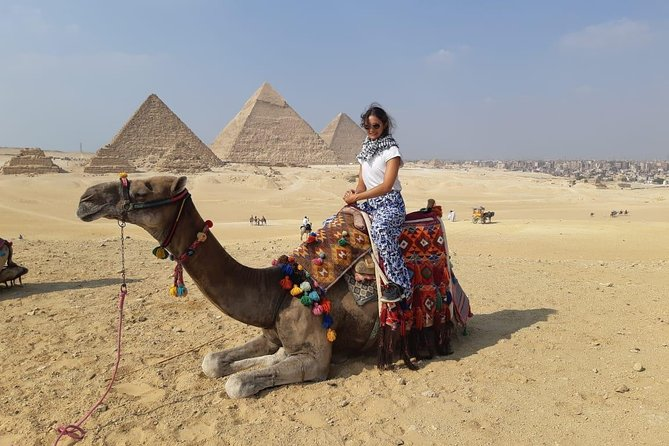 Giza Pyramids, Solar Boat Museum Half Day Private Tour with Camel Ride and Lunch