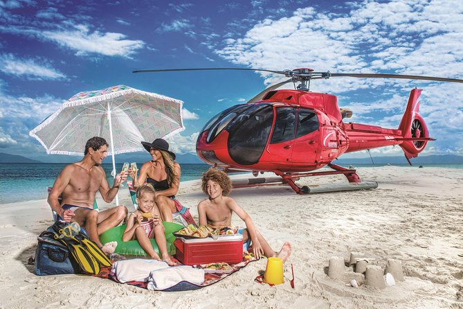 Private Helicopter Tour: Reef Island Snorkeling and Gourmet Picnic Lunch
