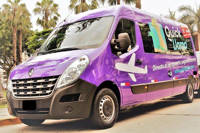 QuickLlama: Door-to-door transfer from Miraflores to Lima Airport