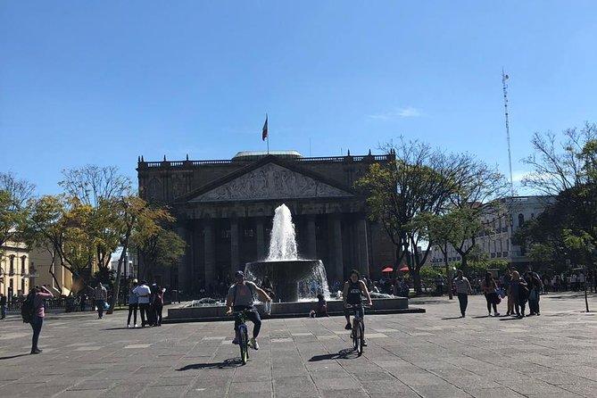 Guadalajara icons and downtown bicycle tour