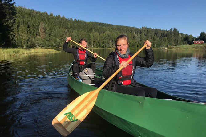 Paddling with wolves. Guided canoe day-tour. photo 6