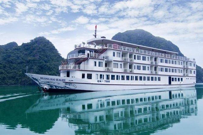 Halong Bay Cruise With Huong Hai Sealife Cruise 2 Days 1 Night