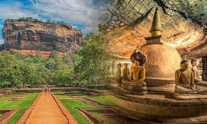 Full-Day Tour of Sigiriya Fortress and Dambulla Cave Temple
