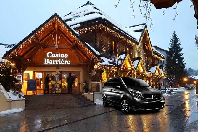Airport Chambery - private VIP transfer to Megève on Mercedes V-class