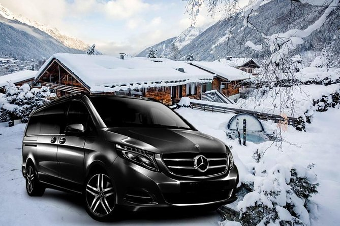 Airport Grenoble - private VIP transfer to Chamonix on Mercedes V-class