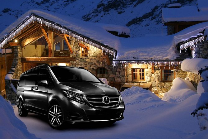Airport Lyon - private VIP transfer to Val-d Isere on Mercedes V-class