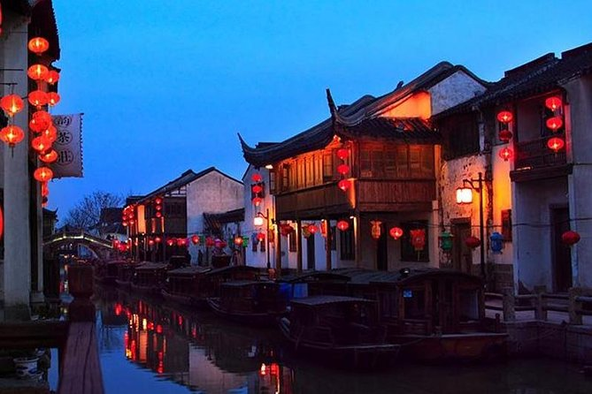 Private Suzhou Night Tour:Master of the Nets Garden, Ancient Canal with Dinner