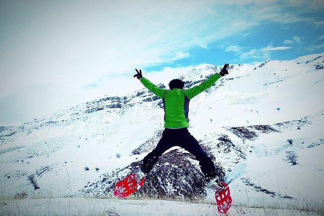 Daily winter snowshoe hiking tour in Areguni mountains