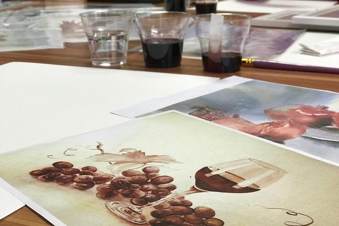 Painting in wine