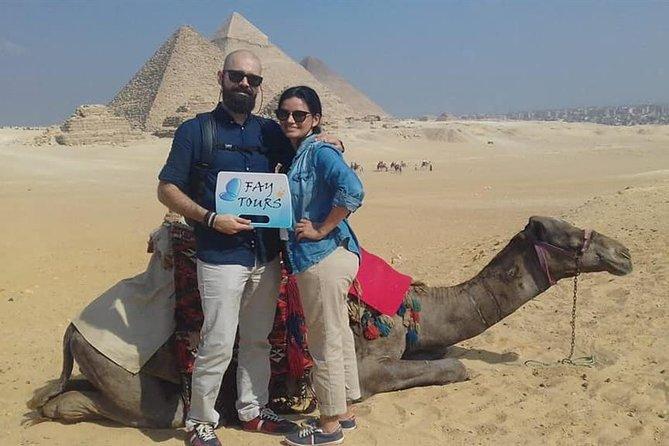 Private Tour Giza Pyramids, Sphinx, Egyptian Museum & Bazaar & Camel Ride