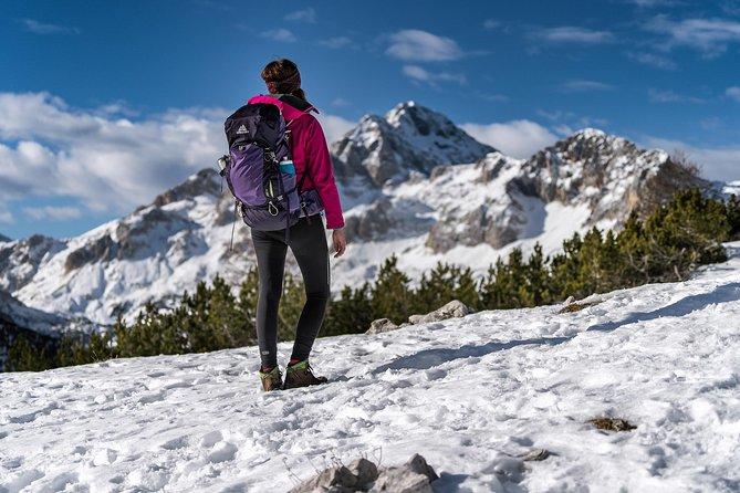 Hiker enjoying the view on Triglav, Slovenia