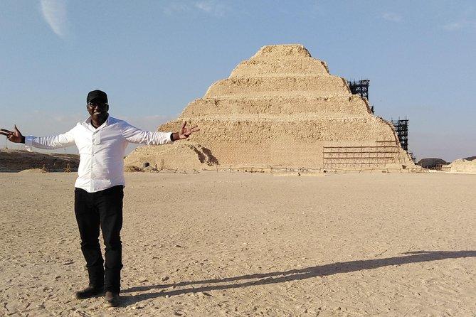 Giza Pyramids, Sphinx, Sakkara pyramids, Memphis with Camle Riding