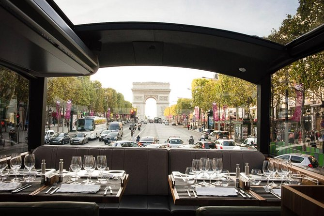 PARIS : Gourmet lunch by luxury Bus in The Capital of Love