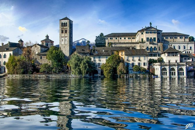 The romantic village of Orta San Giulio with a tour guide