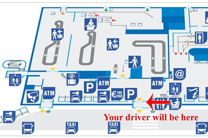 Private transfer Split airport to Split (hotel, apartment, ferry...) up to 3 pax