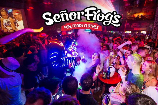 Señor Frogs VIP Open Bar and Dinner Package