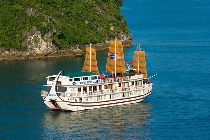 Grayline Cruise Halong bay 2 days 1 night: Visit Titop island & Surprise Cave