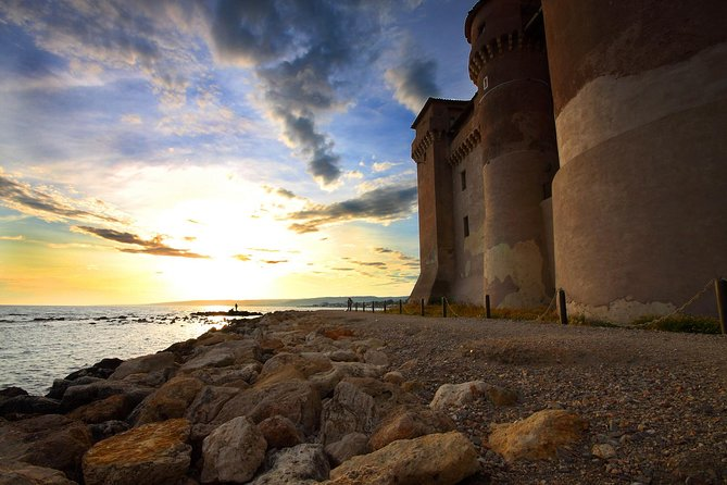 Shore excursion from Civitavecchia Port: the Castle of Santa Severa on the beach
