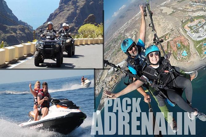 Tenerifes Ultimate Triple Adrenalin Experience, Quad,jetski And Paragliding